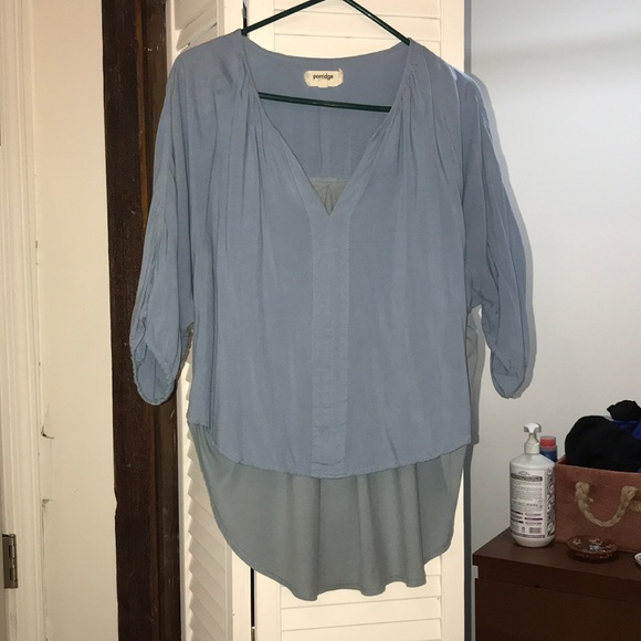 Anthropologie Dresses & Skirts - Bb Blue High-lo Peasant Top